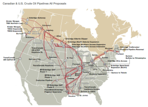 Map of Current and Proposed Pipelines